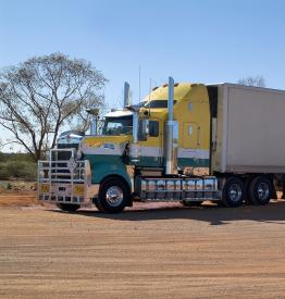 Road train in outback